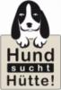 Logo: Hund sucht Hütte - Hundevermittlung  Vereinsvorsitzende Frau Sigrid Schober-Lukas