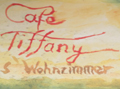 Logo Cafe Tiffany  s`Wohnzimmer