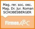 Logo Mag. rer. soc. oec. Mag. Dr. jur. Roman SCHOBESBERGER
