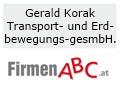 Logo: Gerald Korak  Transport- und Erdbewegungs-gesellschaft m.b.H.