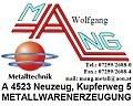 Logo Metallwarenerzeugung  Mang Wolfgang in 4523  Neuzeug