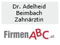 Logo: Adelheid Beimbach Dr. med. univ.  Fach�rztin f�r Zahnheilkunde  �rztin f�r Allgemeinmedizin