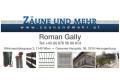 Logo Zäune und mehr  Roman Gally