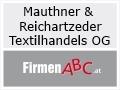 Logo Mauthner & Reichartzeder  Textilhandels OG