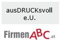 Logo ausDRUCKsvoll e.U.