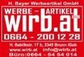 Logo wirb.at.  H. BAYER WERBEARTIKEL GMBH