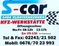 Logo S-CAR KFZ-Werkstätte Klosterneuburg