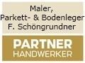 Logo: Maler, Parkett- und Bodenleger  F. Schöngrundner