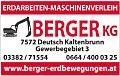 Logo Berger KG  Erdarbeiten - Maschinenverleih
