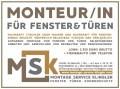 Logo: MSK - Montage Service Klingler Inh.: Josef Benedikt Klingler    Sonnenschutz - Fenster - Sichtschutz
