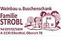 Logo Weinbau und Buschenschank  Familie Strobl in 2130  Eibesthal