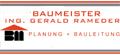 Logo: Planung + Bauleitung  Ing. Gerald Rameder  Baumeister