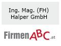 Logo: Ing. Mag. (FH) Halper GmbH