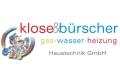 Logo Klose & Bürscher  Planung und Installation für Haustechnik GmbH