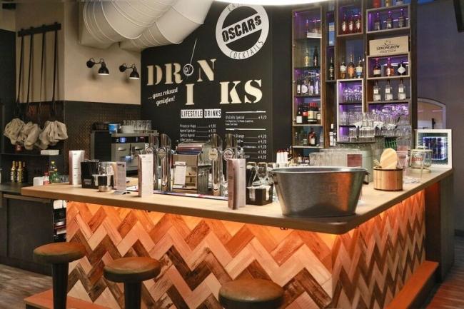 oscar 39 s cafe bar k che wels ober sterreich. Black Bedroom Furniture Sets. Home Design Ideas