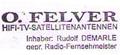Logo: O. Felver Hifi-TV-Satellitenantennen
